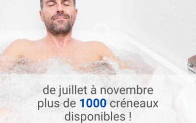 Plus de 1000 créneaux disponibles pour votre cure